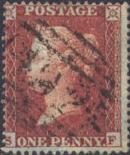 1855 1d Red SG21 Plate 3 'SF'